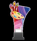 Plexiglass trophy on a plastic base - art CP02/PAI 1