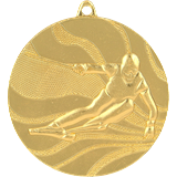 Medal 50mm skiing, 1st place - gold MMC4950 1