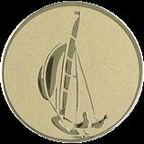 Aluminium Emblem - Segelboot D1-A16 1