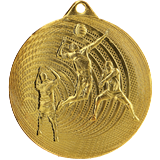 Steel medal volleyball 70 mm, 1st place - gold    MMC3073 1