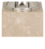 Кубок металлический серебряный 7207E 5