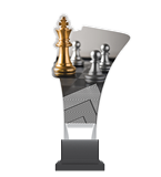 Plexiglass trophy on a plastic base - chess CP02/CHE 1
