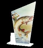 Glass award - two glass panels – fishing DG1 FIS 1