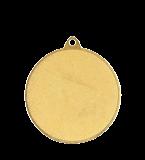 Медаль золотая футбол 50 мм с услугой MMC6950/G 12