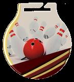 Stahl-Medaillen mit Aufdruck - Bowling MC61/G/BOW 1