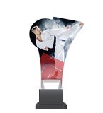 Plexiglass trophy on a plastic base - karate CP02/KAR 1