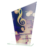 Glass award - two glass panels – music DG1 MUS 1