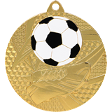 Medal 50 mm football, 1st place - gold MMC6950 1