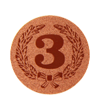 Self-adhesive emblem - Number 3 PS1-A38 1
