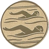 Aluminum emblem - swimming  D2-A10 1