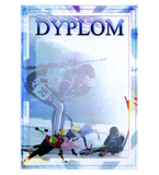 Paper diploma - winter sports DYP84 1