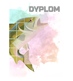 Paper diploma - fishing DYP158 1