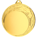 Steel medal 70 mm, 1st place - gold  MMC3078 1