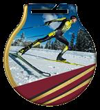 Stahl-Medaillen mit Aufdruck - Skilaufen MC61/G/SKI1 1