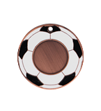 Medal 50 mm football, 3rd place - bronze MMC5150/B 11
