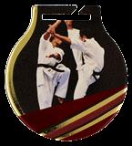 Stahl-Medaillen mit Aufdruck - Karate MC61/G/KAR 1