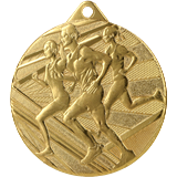 Medal 50 mm, 1st place - gold - running ME004 1