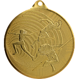 Steel medal  athletics 70 mm, 1st place - gold  MMC3072 1