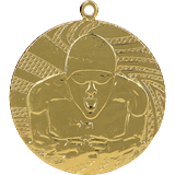 Medal 40 mm swimming, 1st place - gold MMC1640 1