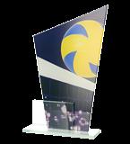 Glastrophäe, zweiGlasscheiben – Volleyball DG1 VOL 1