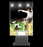 Glass trophy on a plastic base - football CG01C/SOC 2