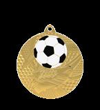Медаль золотая футбол 50 мм с услугой MMC6950/G 11