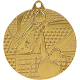 Medal 50 mm volleyball, 1st place - gold MMC7650 1