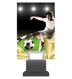 Glass trophy on a plastic base - football CG01 SOC 1