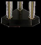 Кубок металлический двухъярусный серебряный DAMARIS 3132A 5