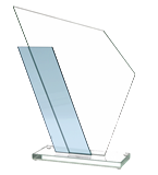 Glass trophy GS615 1