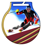 Steel medals with a colour print - Downhil skiing MC61/G/SKI2 1