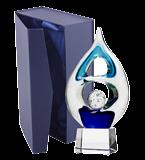 Glass trophy with presentation box GS116C-22 6