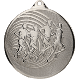 Steel medal running 70 mm, 2nd place - silver MMC3071 1