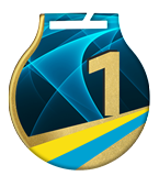 Steel medals with a colour print - UKRAINE MC61/G/UA1.1 2