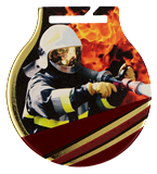 Steel medals with a colour print - Fire-fighting MC61/G/FIR 1