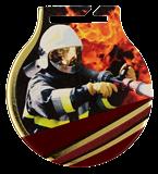 Stahl-Medaillen mit Aufdruck - Feuerwehrmann MC61/G/FIR 1