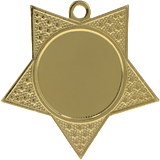 Medal 50 mm star, 1st place - gold MMC18050 1