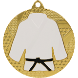 Medal 50 mm judo/karate, 1st place - gold MMC6550 1