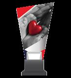 Glass trophy on a plastic base - heart CG02 HEA 1