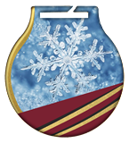 Steel medals with a colour print - Winter snow MC61/G/WIN 1