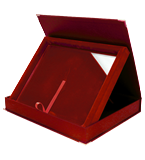 Glass diploma with presentation box DS154 1