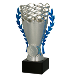 Silver – blue plastic cup 8355 1
