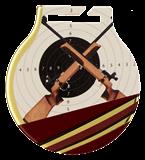 Stahl-Medaillen mit Aufdruck - Schießsport Langwaffen  MC61/G/SHO2 1