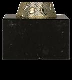 Кубок металлический золото-синий  4171A 5