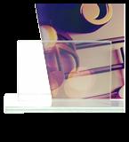 Glastrophäe, zweiGlasscheiben – Musik DG1-C/MUS 5