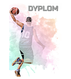 Paper diploma - basketball DYP152 1