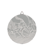 Medal 50 mm running, 2nd place - silver MMC2350/S 11