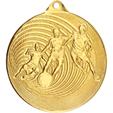 Medal 50 mm football, 1st place - gold MMC5750 1