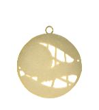 Медаль золотая футбол 70 мм MD1270/G 12
