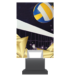 Glass trophy on a plastic base - volleyball CG01C/VOL 2
